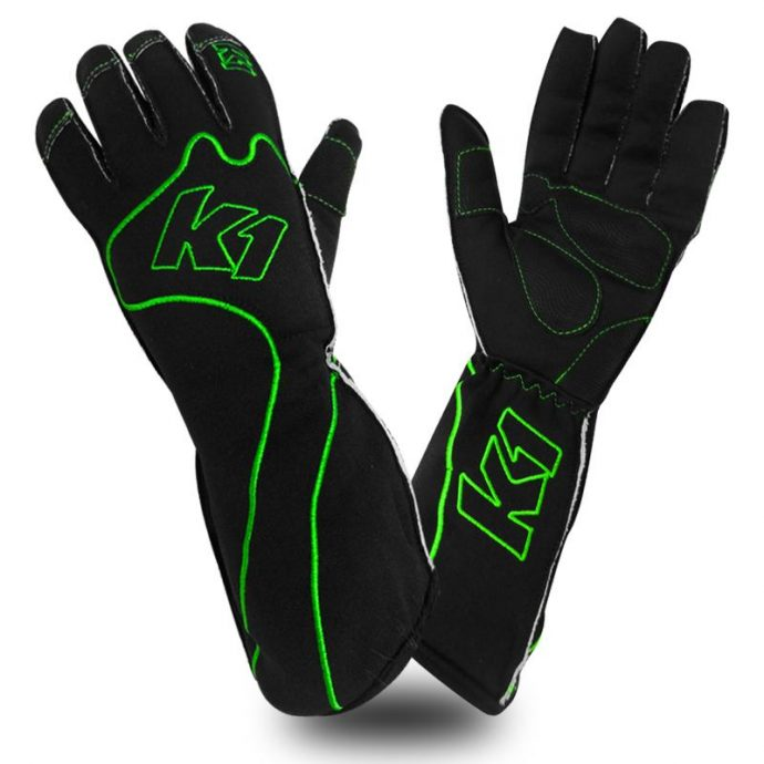 rs-1-green k1 kart gloves