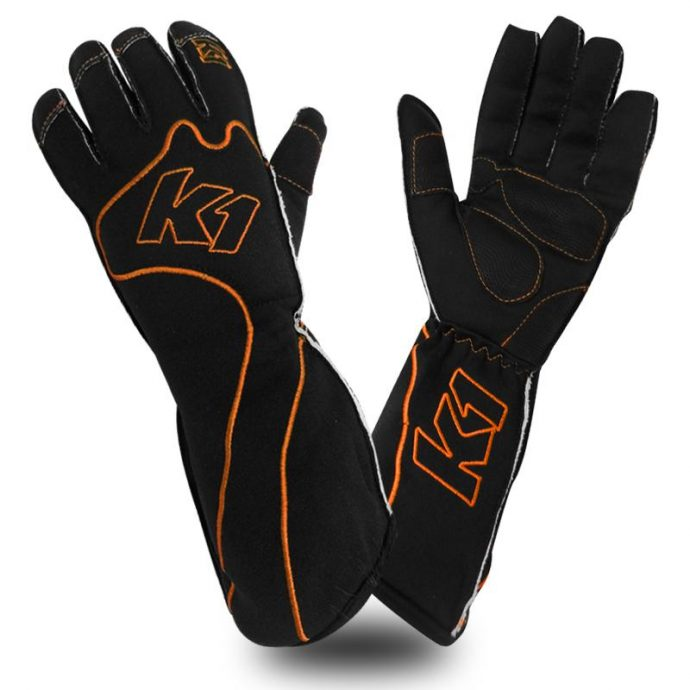 rs-1-orange k1 kart gloves