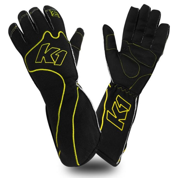 rs-1-yellow k1 kart gloves
